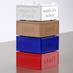 Free 3d printer designs Kitchen Junk Boxes, Festus440