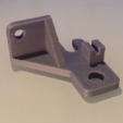 Free 3d printer files Leapfrog Creatr Z sensor bracket with cable clip, Festus440