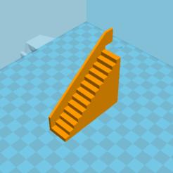 Objet 3D Escalier avec rampe intégrée, Fooxti08