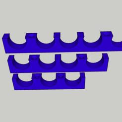 Diseños 3D gratis Soporte eléctrico para vainas 3 4 ó 5 vainas de 16 mm, buched