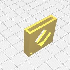 porte cles.jpg Download free STL file Cadi token keyring by seb0031 • 3D printing template, Seb0031