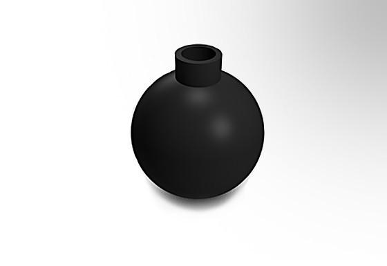 A.jpg Download free STL file Bomb • Model to 3D print, Mario3DD