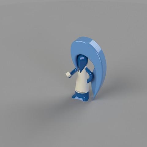 Free Stratomaker Mascot Key chain 3D model, jasonwarsalla