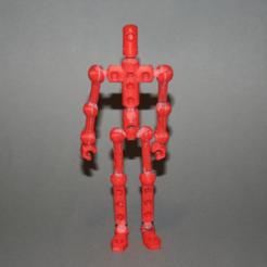 "Free 3D print files Modibot action figure ""easy print"" remix, firebird"