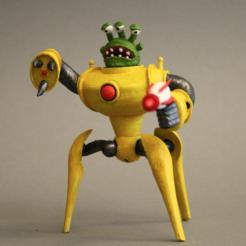Free 3D print files Alienoid - King of Tokyo, firebird