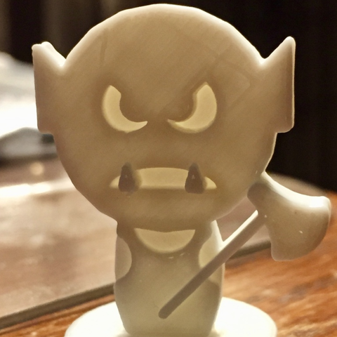Free STL Simple Mini D&D Orc with Axe, CptMoses