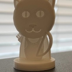 Download free 3D printing designs Simple Mini D&D Tabaxi Ranger with Longbow (Request), CptMoses