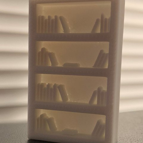 Free 3D printer designs Simple Mini D&D Tall Bookshelf, CptMoses