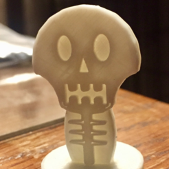 3d printer model Simple Mini D&D Skeleton, CptMoses