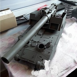 fichier 3d gratuit Impression 3D T92 Artillerie autopropulsée, kangkang1949