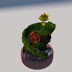 Download free 3D printer designs Flower Fountain, rcanon