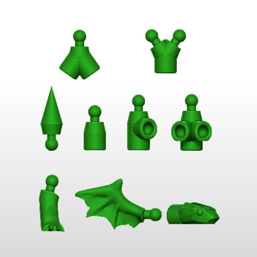 pièces parties.PNG Télécharger fichier STL gratuit Serpent articulé • Modèle pour imprimante 3D, grogro