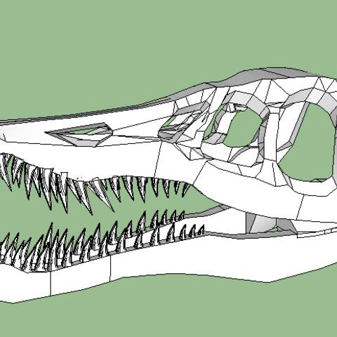 dino tete.PNG Download free STL file dinosaur skull • 3D printer object, grogro