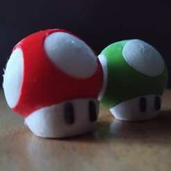 Download free 3D printing files Mario's mushroom, grogro