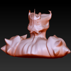 Free STL files Allien Bust, grogro