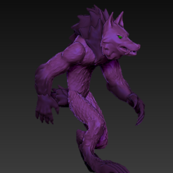 Download free STL files Werewolf, grogro