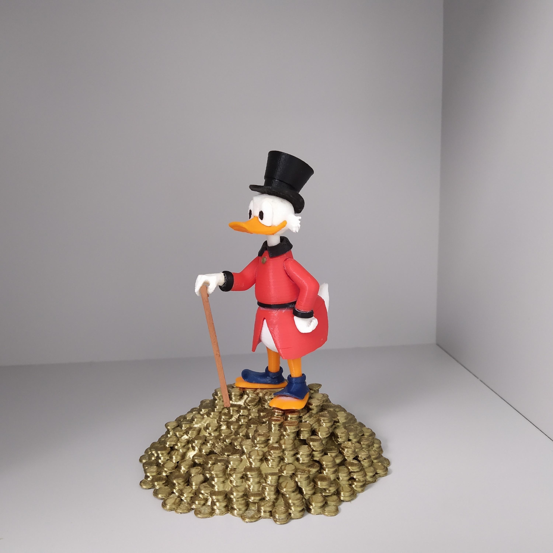 picsou 3.jpg Télécharger fichier STL gratuit Scrooge McDuck / Picsou • Plan à imprimer en 3D, grogro