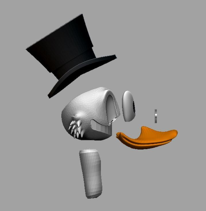 picsou parties 2.JPG Télécharger fichier STL gratuit Scrooge McDuck / Picsou • Plan à imprimer en 3D, grogro