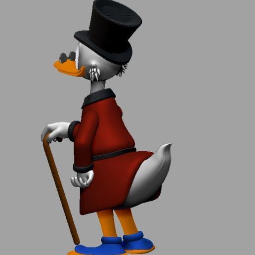 picsou couleur 2.JPG Télécharger fichier STL gratuit Scrooge McDuck / Picsou • Plan à imprimer en 3D, grogro