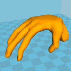 Download free STL files The hand - table, grogro