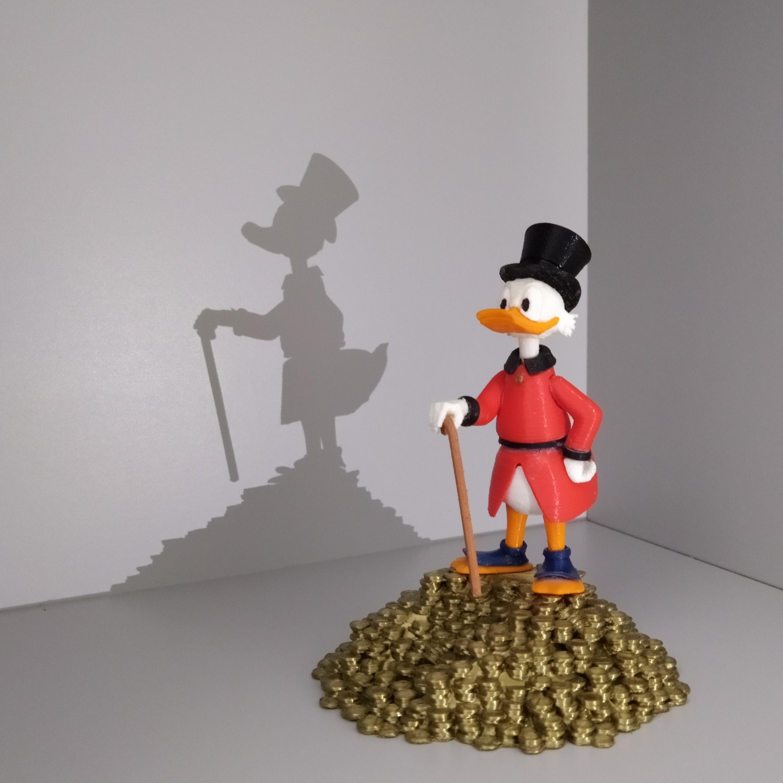 IMG_20200903_120413.jpg Télécharger fichier STL gratuit Scrooge McDuck / Picsou • Plan à imprimer en 3D, grogro