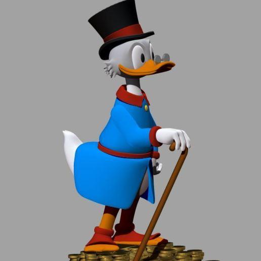 picsou bleu 2.JPG Télécharger fichier STL gratuit Scrooge McDuck / Picsou • Plan à imprimer en 3D, grogro