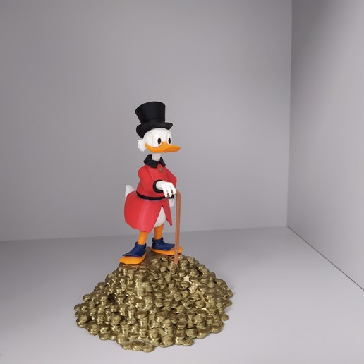 picsou 2.jpg Télécharger fichier STL gratuit Scrooge McDuck / Picsou • Plan à imprimer en 3D, grogro