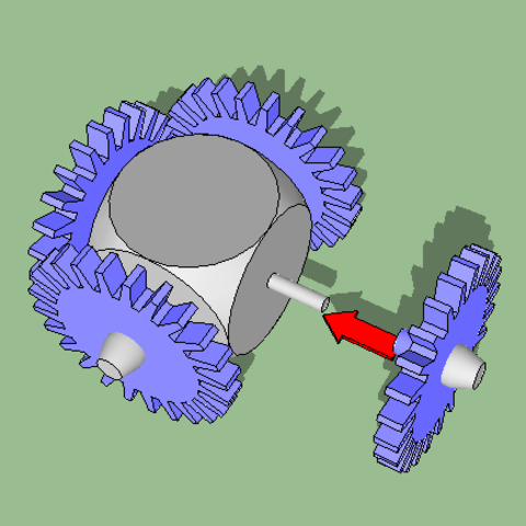Download free 3D printing templates gear cube toy, grogro