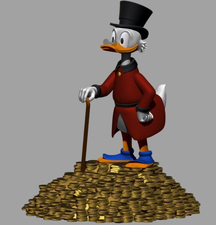 picsou tas d'or.JPG Télécharger fichier STL gratuit Scrooge McDuck / Picsou • Plan à imprimer en 3D, grogro