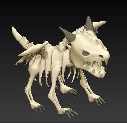 dragon sq 3.PNG Download free STL file Skeleton Dragon • 3D printing template, grogro