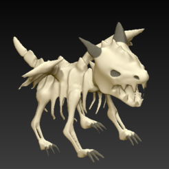 Download free 3D printer model Skeleton Dragon, grogro