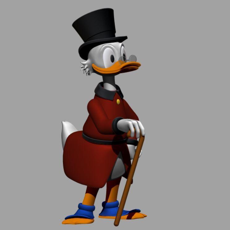 picsou couleur 1.JPG Télécharger fichier STL gratuit Scrooge McDuck / Picsou • Plan à imprimer en 3D, grogro