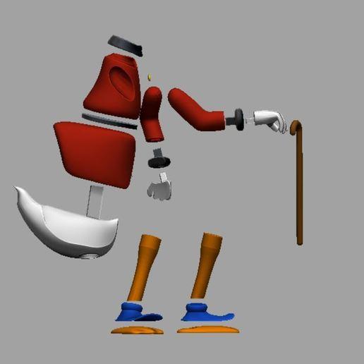 picsou parties 1.JPG Télécharger fichier STL gratuit Scrooge McDuck / Picsou • Plan à imprimer en 3D, grogro