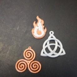 Download free 3D printer designs pendants, rfbat