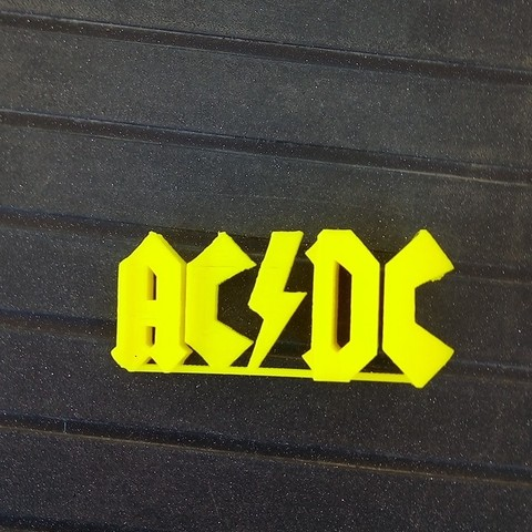 Download free 3D printer designs AC/DC logo, rfbat