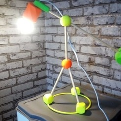 Free STL desk lamp, rfbat