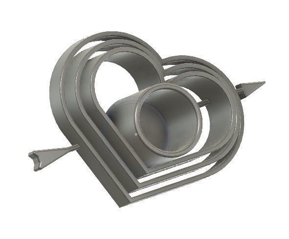 Coeur Bougeoir.JPG Download free STL file Heart Candle holder • 3D print design, rfbat