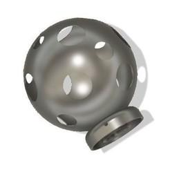 3D print model ball lamp, rfbat