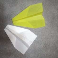Download free 3D printing models Paper aircraft, rfbat