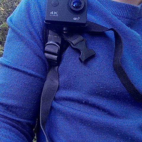 Download free 3D printer designs Noname action camera belt clip adater, spch