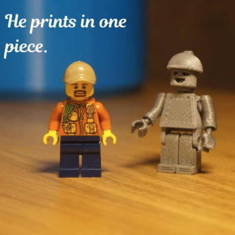Download free 3D printing models LEGO compatible print in place man, spch