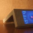 """Free 3D printer file Nextion HMI 3.5"""" display desk stand NX4832TO35, spch"""