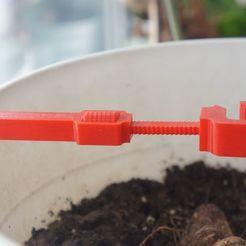 Download free STL file Adjustable flower/plant support • Design to 3D print, spch