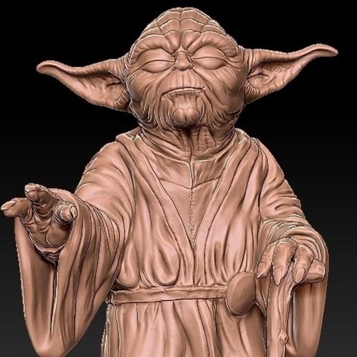 9.jpg Télécharger fichier OBJ gratuit Yoda HD StarWars • Modèle pour impression 3D, 3d-designs