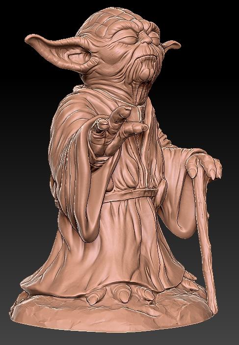 6.jpg Télécharger fichier OBJ gratuit Yoda HD StarWars • Modèle pour impression 3D, 3d-designs