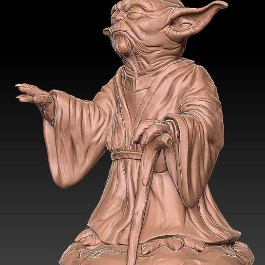 2.jpg Télécharger fichier OBJ gratuit Yoda HD StarWars • Modèle pour impression 3D, 3d-designs