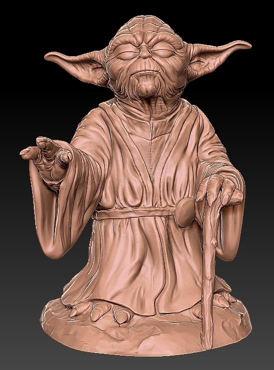 1.jpg Télécharger fichier OBJ gratuit Yoda HD StarWars • Modèle pour impression 3D, 3d-designs