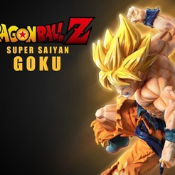 Download 3D model Goku Super Saiyan, 3d-designs