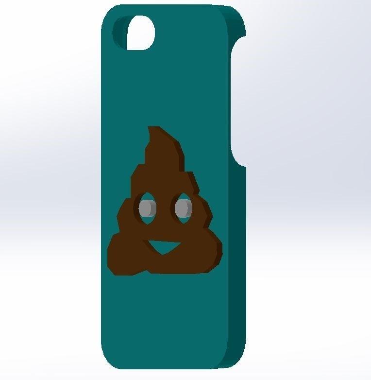 8.jpg Download STL file IPHONE 5 / 5S COVER (Emojie ca **) • 3D printer object, Yoyos