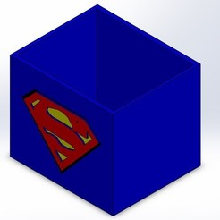 STL file SUPERMAN PENCIL POT, Yoyos